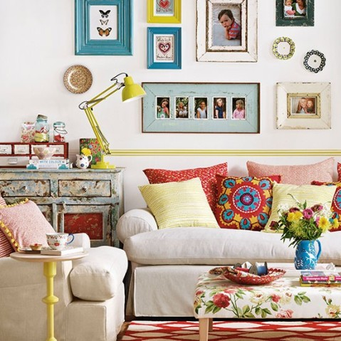 Eclectic Bright And Bohemian Living Room Interior Looks
